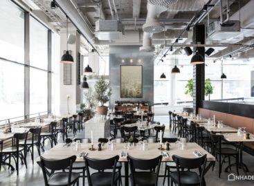 Ngắm nhìn không gian mở tràn ngập ánh sáng của quán Bistro/ Café Usine