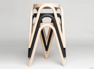 Ghế đẩu Vava nổi bật với chân ghế zigzag