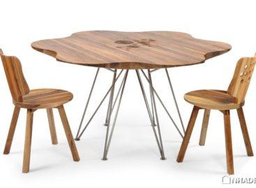 Đường nét mềm mại của bộ sưu tập bàn ghế gỗ Daisy