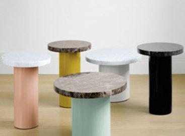 Những chiếc bàn phụ đầy màu sắc của thương hiệu e15