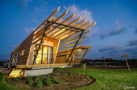 Khám phá kiến trúc độc đáo của những căn nhà gỗ một tầng ở Israel