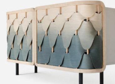Vẻ đẹp thu hút của chiếc tủ gỗ theo phong cách ombre
