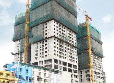 Cất nóc tòa tháp cao nhất dự án Mandarin Garden 2
