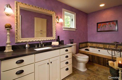 23 phòng tắm lộng lẫy với tông màu tím quyến rũ (Phần 1)
