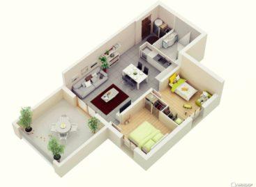 23 ý tưởng thiết kế căn hộ hai phòng ngủ (Phần 1)