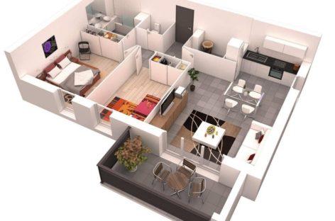 23 ý tưởng thiết kế căn hộ hai phòng ngủ (Phần 2)