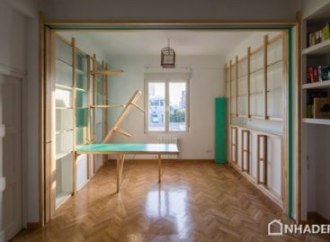 [Video] Căn hộ nhỏ ở Madrid với nội thất được tích hợp vào tường được thiết kế bởi Elii Architects