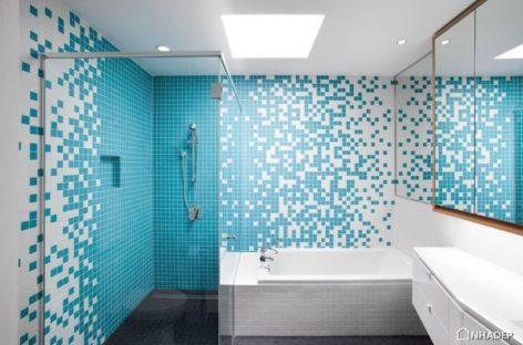 Bảy phòng tắm với gạch màu xanh đầy cảm hứng