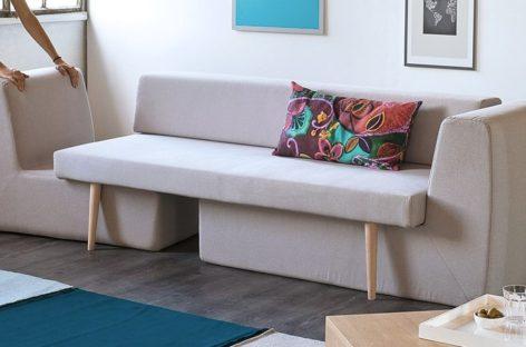 Bộ ghế sofa sang trọng với kết cấu ba trong một dành cho các căn hộ nhỏ