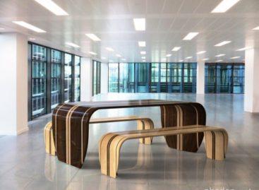 Bộ bàn ghế kiểu dáng ván trượt