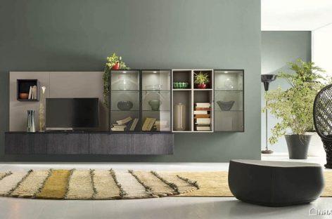 Những bức tường phòng khách với lối thiết kế linh hoạt, phóng khoáng