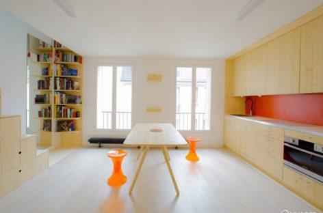 Thiết kế tiết kiệm không gian của căn hộ nhỏ tại Paris