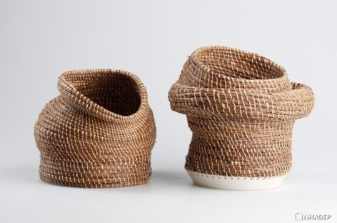 Caruma – Những chiếc bình đặc biệt kết hợp nghệ thuật đan lát và gốm sứ