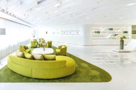 Sử dụng gam màu trẻ trung cho không gian làm việc