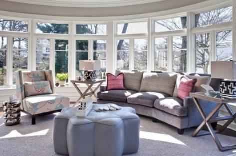 Ghế đệm phong cách cho phòng khách thêm xinh