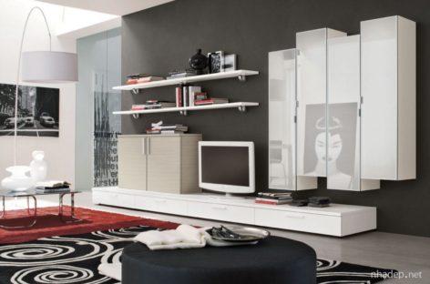 Các mẫu tủ, kệ trang trí cho phòng khách trang nhã (Phần 2)
