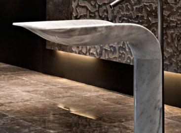 Bồn rửa bằng đá cẩm thạch trắng
