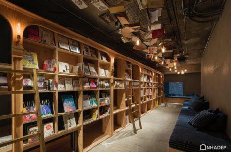 Ý tưởng độc đáo kết hợp giữa nhà nghỉ và hiệu sách tại thủ đô Tokyo, Nhật Bản