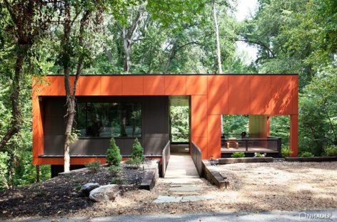 Nội thất với gam màu cam và đen cho ngôi nhà vào mùa thu và Halloween
