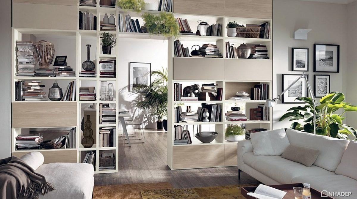 Kệ sát tường – thiết kế ấn tượng cho phòng khách