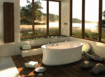 Bồn tắm với không gian xanh trong nhà