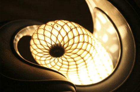 Độc đáo chiếc đèn hình tổ kén