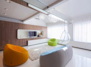 Chiêm ngưỡng căn hộ gác mái sang trọng với thiết kế đơn giản ở Hungary