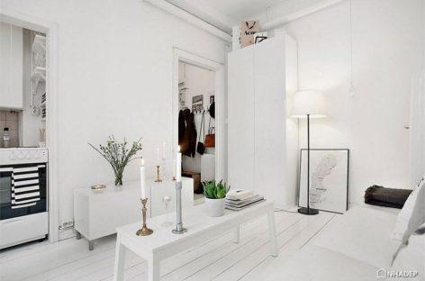 """Căn hộ studio """"siêu nhỏ"""" ở Stockholm với thiết kế Scandinavian thông minh"""