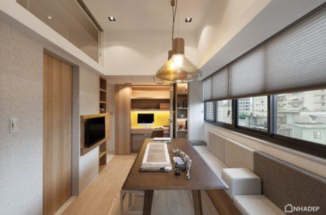 Thiết kế thanh lịch theo phong cách tối giản của một căn hộ nhỏ ở Đài Bắc