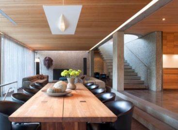 Sự phối hợp hài hòa giữa bê tông và gỗ trong ngôi nhà ở Vancouver