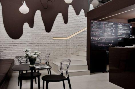 Thích thú với quán cà phê có tường sô-cô-la tan chảy ở Poland