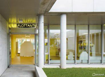 Thiết kế gian phòng sinh hoạt chung, lấy ý tưởng từ món tráng miệng L'île Flottante