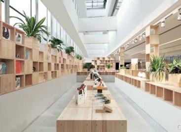 Độc đáo nột thất bằng gỗ của một cửa hàng công nghệ tại Trung Quốc