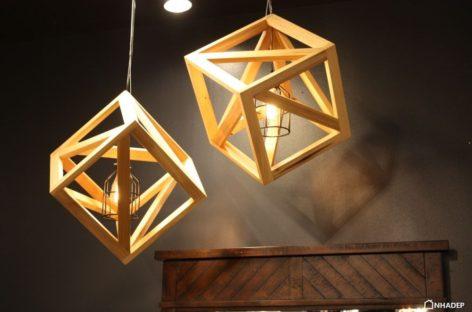 Những thiết kế đèn treo bằng gỗ ấn tượng và độc đáo