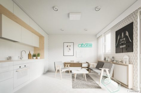 Một số thiết kế căn hộ nhỏ dưới 50m2 hiện đại và mới lạ