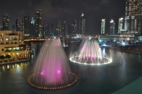 Độc đáo đài phun nước ở Dubai