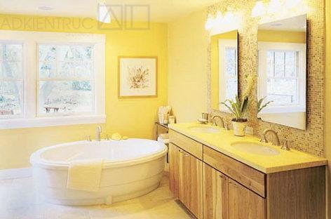 Thiết kế phòng tắm đơn sắc độc đáo