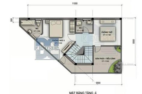 Nhà 3,5 tầng trên đất vát góc