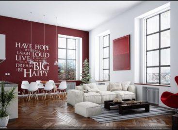 Phòng khách ấn tượng với thiết kế đương đại