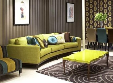 Phòng khách nghệ thuật với những sắc màu