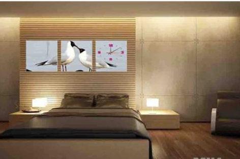 Tranh đồng hồ treo tường cho nhà thêm xinh