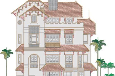Tư vấn thiết kế biệt thự 3,5 tầng, kiểu Pháp