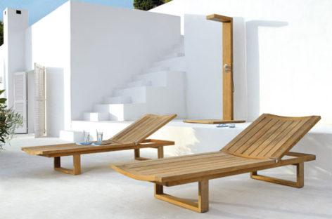 Bàn ghế tối giản cho không gian ngoài trời
