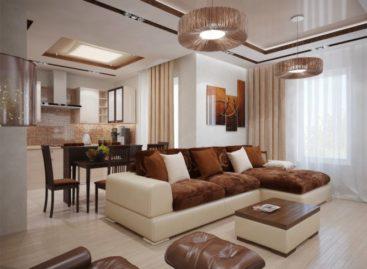 Phòng khách hiện đại với sắc màu tự nhiên