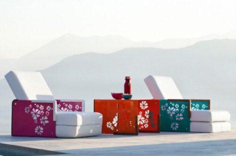 Ghế Kube trang trí góc vườn xinh ngày hè