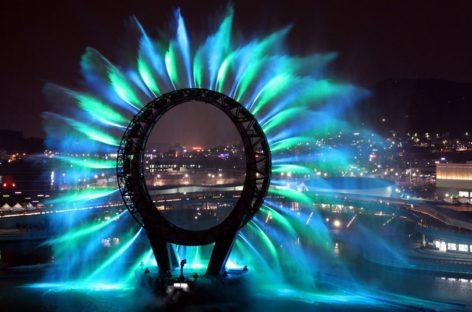 Đài phun nước Big-O rực rỡ tại Triển lãm Yeosu, Hàn Quốc