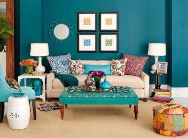 Đem phong cách du mục vào phòng khách