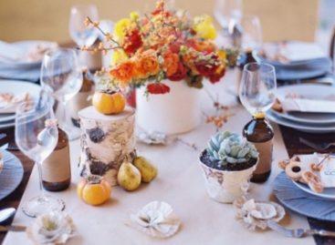 Ý tưởng trang trí bàn ăn mùa thu
