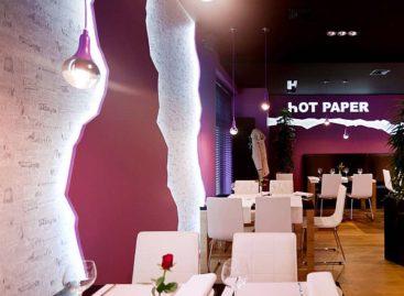 Thiết kế ấn tượng tại nhà hàng Hot Paper
