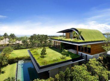 Chiêm ngưỡng ngôi nhà màu xanh tại Sentosa, Singapore